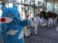 あべのハルカスで阿倍王子神社の獅子舞巡行